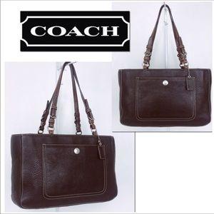 Coach Chelsea Pebble Leather Tote Shoulder Bag